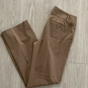 LOFT Julie Trouser Pants Camel Brown Sz 4 Bootcut
